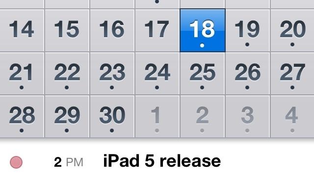 iPad 5, 18 Nisan'da Tanıtılabilir