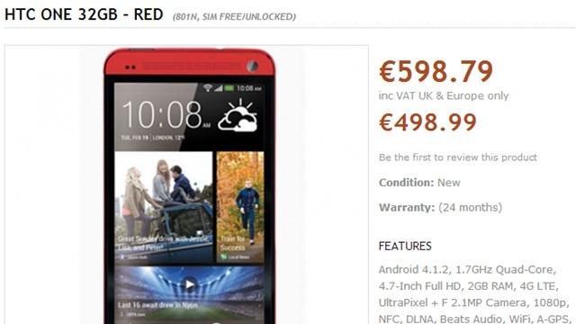 Kırmızı HTC One Satışa Çıktı