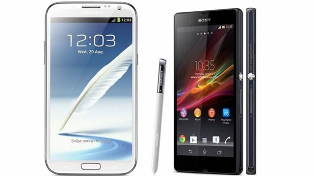 Sony Xperia Z ile Samsung Galaxy Note 2 Karşılaştırması