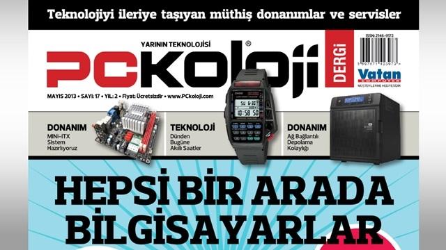 PCkoloji Dergi'nin Mayıs 2013 Sayısı Çıktı