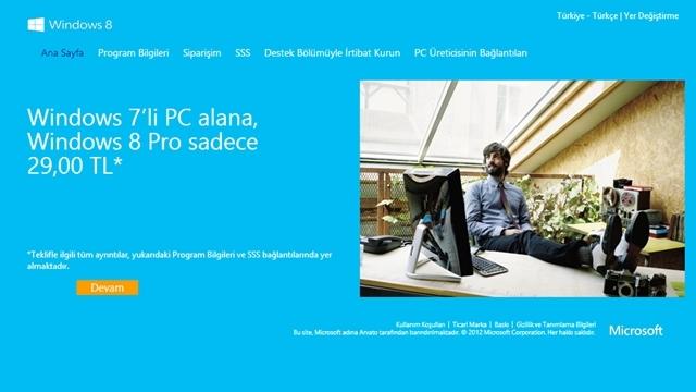 Windows 8'e İndirimli Geçiş Kampanyası Bugün Bitiyor!