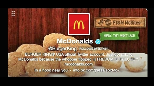 Burger King'in Twitter Hesabı Hacklendi