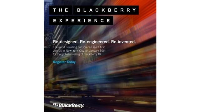 RIM, BlackBerry 10 Etkinliği İçin Davetiye Göndermeye Başladı