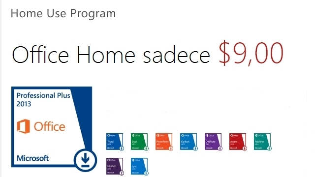 Office Home 2013'ü Sadece $9,00'a Edinebilirsiniz
