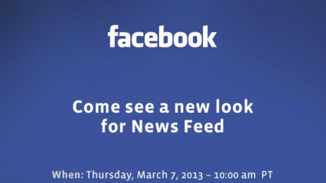 Facebook 7 Mart'ta Yeni Haber Kaynağı Görünümünü Açıklayacak