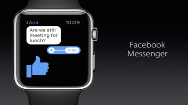 Facebook Messenger, Apple Watch'a Geliyor!