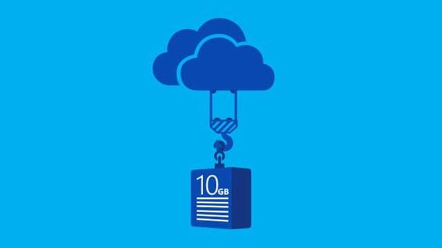OneDrive, Dosya Taşıma Kapasitesini 10 GB'a Çıkardı