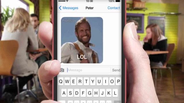 iOS 8 ile Arkadaşlarınıza Gönderdiğiniz GIF Dosyaları Klavyenizde