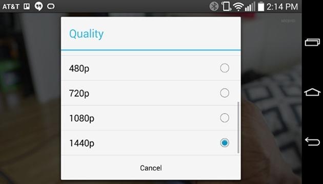 LG G3'te YouTube Videolarını 1440p İzleyebileceğiz