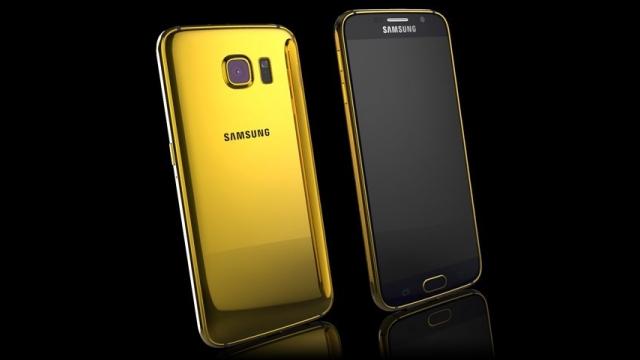 Altın Samsung Galaxy S6 Edge'ye Ne Dersiniz?
