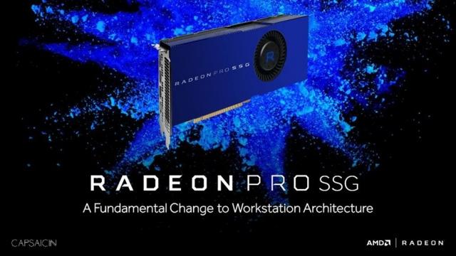 AMD Radeon Pro SSG, 1TB Belleği ile Göz Kamaştırıyor