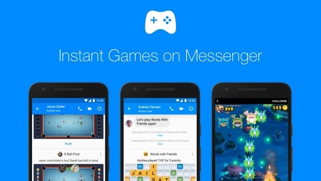 Facebook Messenger Oyunları Kullanıma Açılıyor