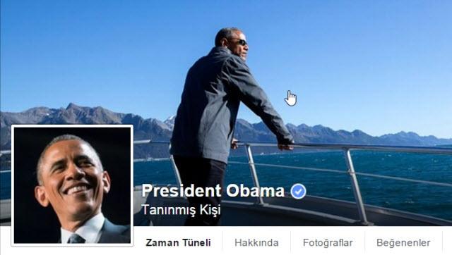 Obama Twitter'dan Sonra Facebook'u da İstila Ediyor