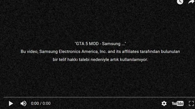 Samsung, GTA 5 Patlayan Galaxy Note 7 Modu Videosunu Kaldırttı!