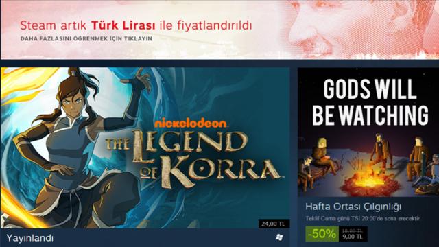 Steam'de Artık Türk Lirası ile Alışveriş Edebileceksiniz!