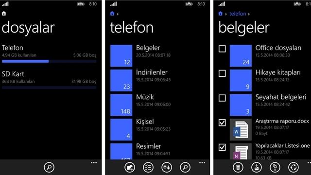 Windows Phone için Resmi Dosya Yöneticisi Yayınlandı