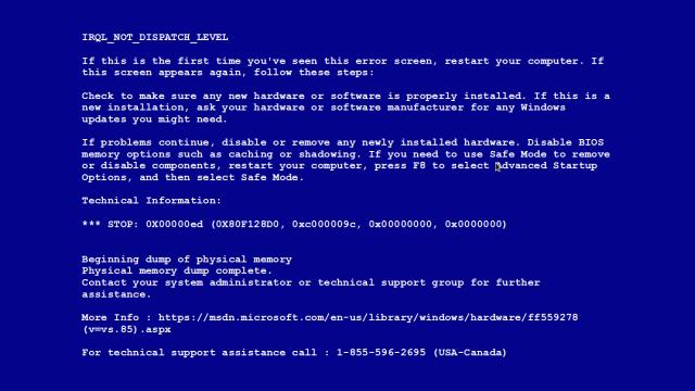 Windows'un Meşhur Mavi Ekranı Değişiyor