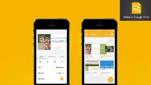 Google Slaytlar Uygulaması App Store'da Yerini Aldı