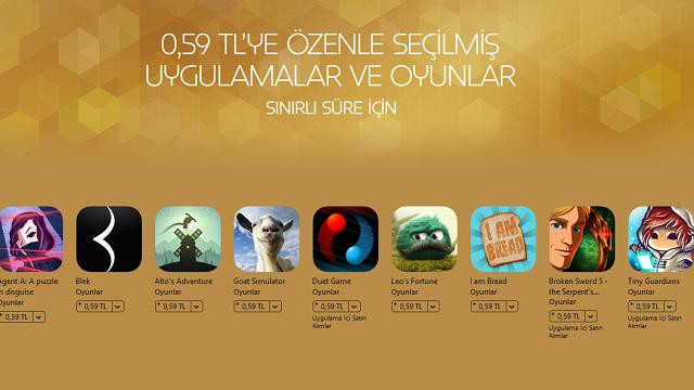 App Store'da Yılbaşı İndirimi! Ödüllü Oyun ve Uygulamalar 0,59 TL