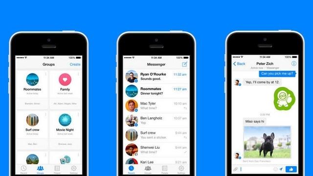 Facebook Messenger iOS Sürümüne Grup Sohbet Özelliği Geldi