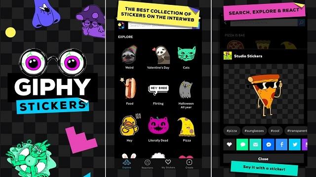 GIPHY Stickers ile Mesajlar Renkleniyor