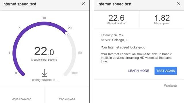Google Artık İnternet Hızı Ölçümü Yapıyor