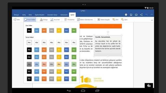 Microsoft Office Android Tabletler İçin Yayınlandı, Hemen İndirin!