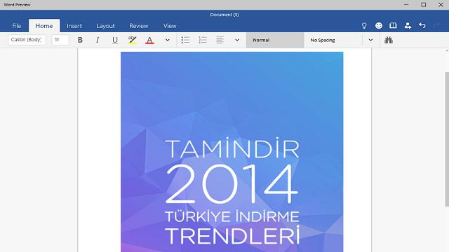 Microsoft Office Touch Uygulamaları Windows 10 İçin Yayınlandı