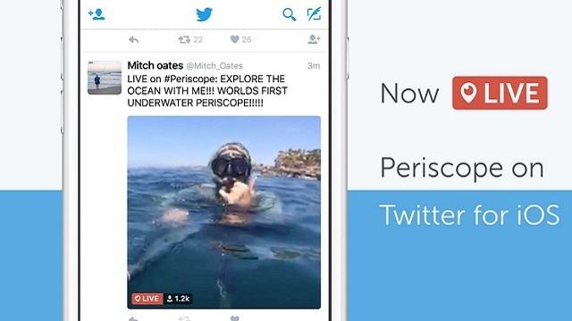 Periscope Yayınları Twitter'dan İzlenebilecek
