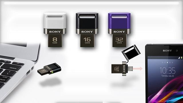 Sony'den Akıllı Telefon ve Tabletler için Özel USB Bellek