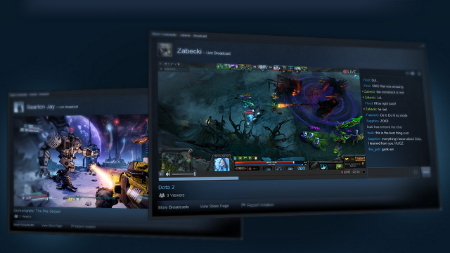 Valve'dan Twitch'e Rakip Servis: Steam Broadcasting