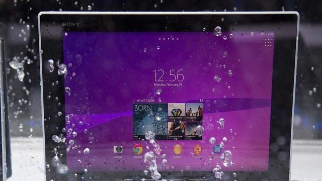 Sony Xperia Z2 Tablet, Ultra İnce ve Su Geçirmiyor