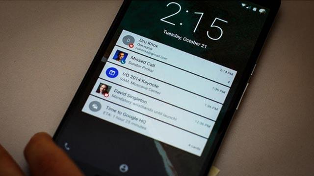 Google Lollipop'ta Kilit Ekranlarını Güncelliyor