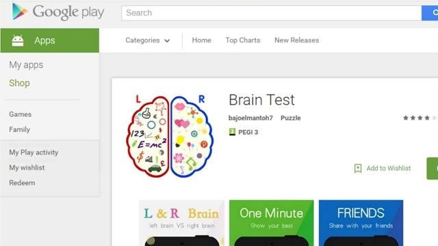 Android İçin IQ Testi Sanılan Brain Test Uygulamasına Dikkat