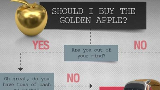 Asus ZenWatch'dan Slogan: Altın Elma Alacak Kadar Deli misiniz?