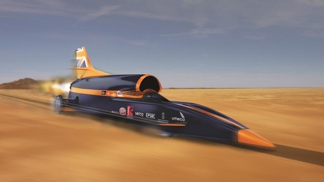 Dünyanın En Hızlı Arabası Bloodhound Yeni Rekor Sürüşüne Hazır