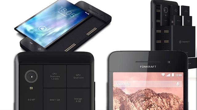 Modüler Telefonlar'da Rekabet Başlıyor Fonkraft, Project ARA'ya Rakip Oluyor