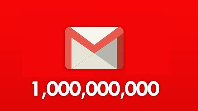 Gmail Aylık 1 Milyar Aktif Kullanıcıya Ulaştı
