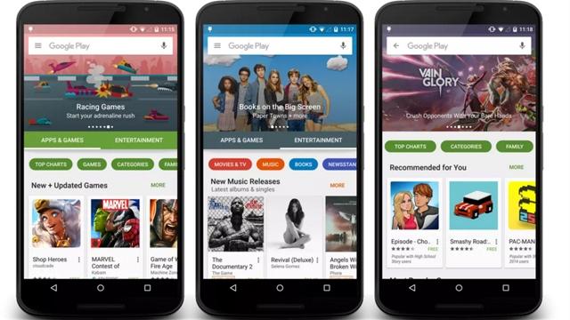 Google Play Yeni Tasarımıyla Hizmete Girmeye Hazırlanıyor, İşte Yeni Tasarım