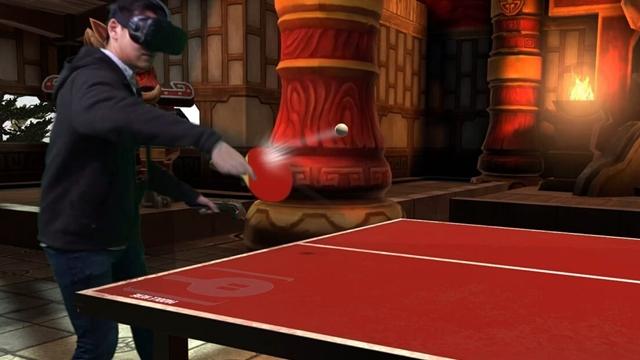 HTC Vive VR'ın Yeni Sanal Gerçeklik Oyunları Arasında Ping-Pong'da Var