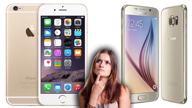 Tüketiciler Galaxy S6 Edge ve iPhone 6 Plus Arasında Kararsız Kaldılar