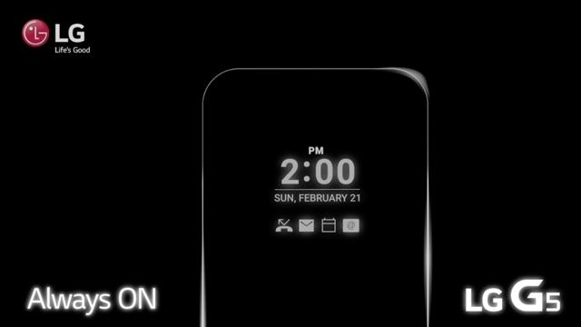 Yoksa, LG G5'in Ekranı Hiç Kapanmayacak mı?
