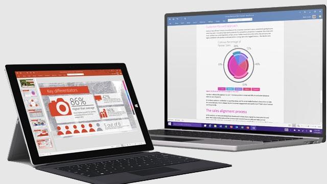 Microsoft Office 2016 Windows 10 ile Beraber Geliyor