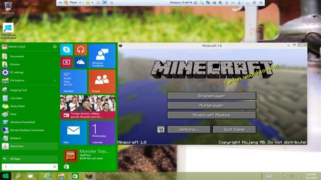 Windows 10 ile Beraber, Minecraft  Windows 10 Beta Sürümü de Geliyor