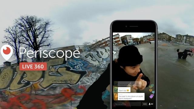 Periscope 360° Canlı Yayın Özelliği Başladı