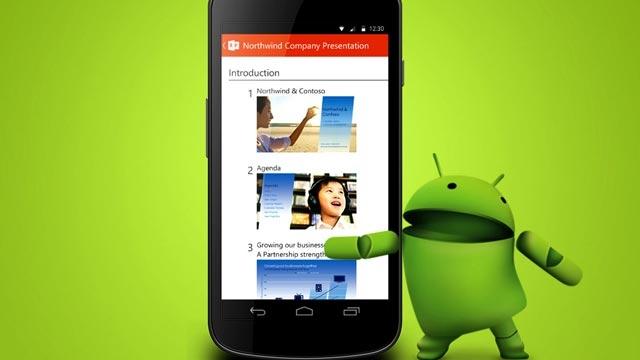 Microsoft, Android Telefonlardan da PowerPoint Sunumları Yaptıracak