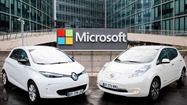 Nissan, Renault ve  Microsoft  Bağlantılı Sürücüsüz Araba Üretecek