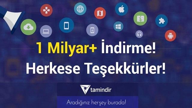 Tamindir.com 1 Milyar İndirmeyi Geride Bıraktı