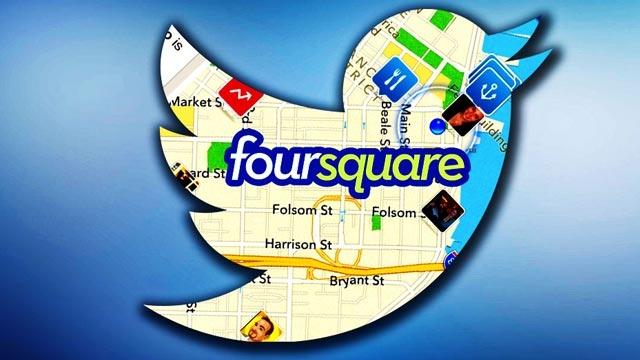 Twitter Konum Bildirme İşini Yeni Detaylarla Foursquare'e Devretti
