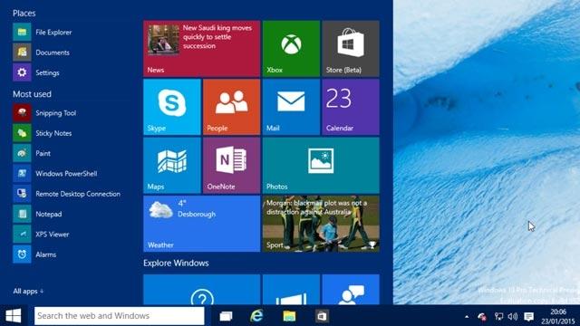 Yeni Başlat Menüsü, Cortana ve Xbox Uygulamalarıyla Windows 10 Çıktı